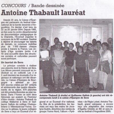 L'Yonne Républicaine du 1er juillet 2004