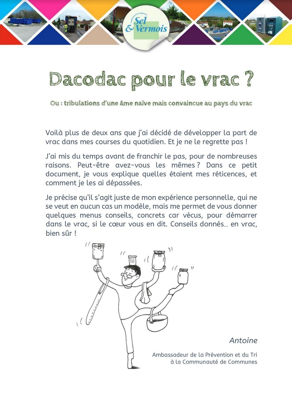 Dacodac pour le vrac - Janvier 2021