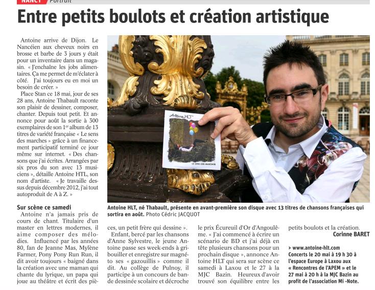 Article Est Républicain mai 2017